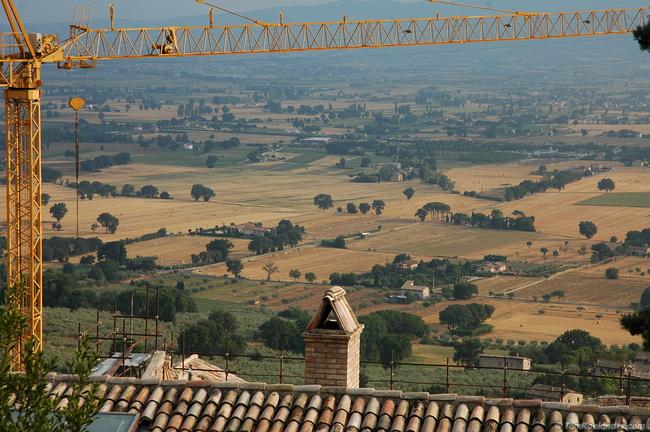 Crane Framed Landscape