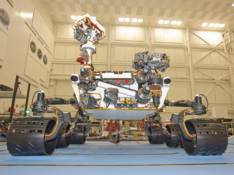 Curiosity Mars Science Laboratory rover [image: NASA]
