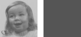 Correctly converted to grayscale (left). Naively converted to grayscale (right)