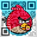 Angry Birds QR code [image: Visualead]