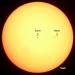 Sun, Earth, and Moon, all to scale [Sun photo: Thomas Bresson]